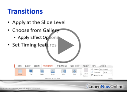 PowerPoint 2013, Part 4: Presentations